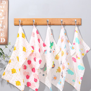25*50 Gauze Cotton Baby Handkerchief Square Bath Towel Muslin Cotton Infant Face Towel Wipe Cloth Appease Towel 2020 New