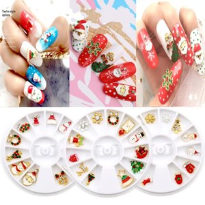 christmas 3D Nail Art DIY Rhinestones Glitters Acrylic Rhinestones for nails Manicure Nail Art Decoration In Wheel