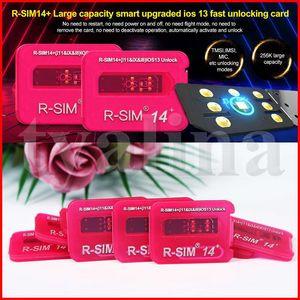Newest R-SIM 14+ R sim14+ RSIM14+ R SIM 14+ RSIM 14+ unlock card for iphone 11 pro max IOS13 iccid unlocking sim R-SIM14+