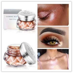 PUDAIER Jelly Gel Eyeshadow Highlights Powder makeup Glitter Pearly Beauty Glazed Shimmer 8 colors Face Body Eye shadow Cream Cosmetics DHL