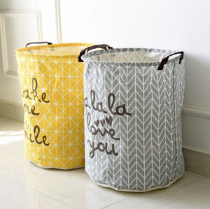 The latest 40 * 50CM hot sale cotton and linen storage barrel, cloth dirty clothes basket, home finishing storage basket