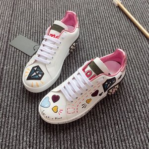 Nuevos planos de cuero de diseñador zapatillas de deporte de las mujeres clásicos casuales zapatos de lujo de la marca Franch extremadamente caminar Runnig Durable Chaussures hc18111703