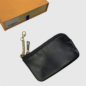 Diseñador carpeta del diseñador bolsa de la moneda de la cadena monedero bolsa de cuero del diseñador Billeteros clave pequeño mini monederos de envío de regalos con Orange Box 659