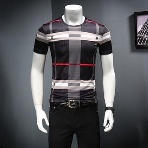 2020 verano de seda del hielo de manga corta camiseta de comercio electrónico D252 P50 falso Modelo