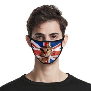 USA Independence Day Maske für Dame Cubrebocas Farbe Rosa Masken Waschbar Polyester Usa Unabhängigkeit Authenti newclipper MWuaE
