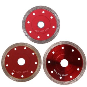 Cheap Saw Blades Red Hot Pressed Sintered Mesh Turbo Ceramic Tile Granite Marble Diamond Saw Blade Cutting Disc Wheel Bore Tools
