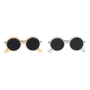 حار جديد رجل DIY النظارات الشمسية دبابيس السلامة دبوس بروش ذكر طية صدر السترة دبوس للنساء مجوهرات حزب هدية