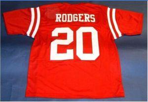 Hommes # 20 Cornhuskers NEBRASKA JOHNNY RODGERS CUSTOM College taille Jersey s-5XL ou sur mesure tout maillot de nom ou le numéro