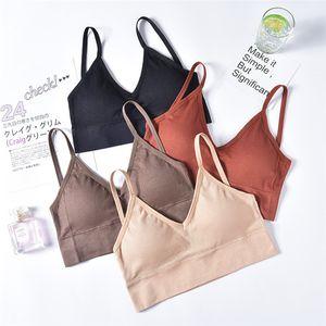 Frauen Draht-freie Bras Sexy Solid Color bequeme Unterwäsche Famale Breathable Art und Weise Bras