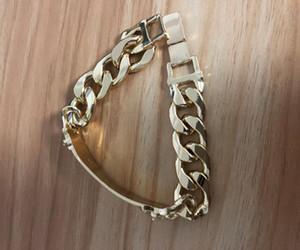 Designer di lusso dei braccialetti di fascino dell'oro punk di stile della testa di coppia dei braccialetti del braccialetto dell'acciaio inossidabile per le donne gli uomini