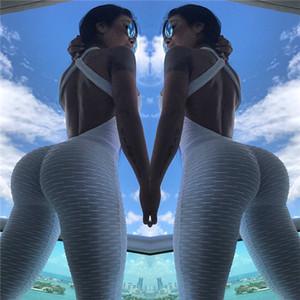 7 couleurs Womens Yoga monopièce Pantalon fitness manches Sport Slim Fit Yoga Vêtements respirant Survêtements intérieur Vêtements Gym