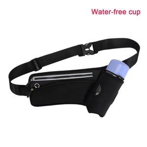Lightweight Bottle Holder Zipper Fitness Waist Bag Hiking Headphone Hole Running Pouch Gym Climbing Buckle Adjustable Strap