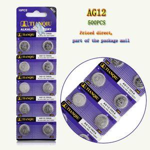 500 PCS مصنع أسعار الجملة LR43 AG12 القلوية زر البطارية 386A SR43 186 LR1142 بطارية 1.55V الالكترونية لمشاهدة لعب الجزء