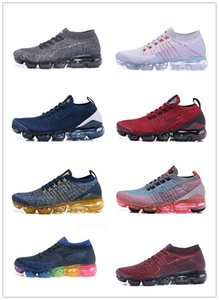 2019 classic Fly 3.0 2.0 knitted men's and women's sports shoes black and white blue multicolor Air 3 flying line running shoes
