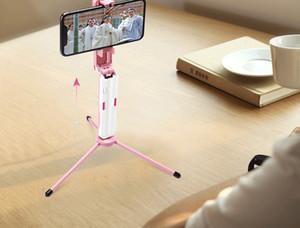 Nova M1 novo mini bolso portátil selfie selfie vara de aço inoxidável Bluetooth auto-temporizador universal ao vivo