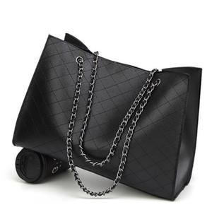 Nuevos bolsos de cuero para mujeres Bolsos de lujo Bolsos de mujer Diseñador Bolso de mano con asas grandes Bolso de cuero de cadena envío gratis