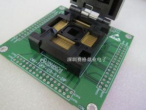 Freeshipping LQFP128 IC51-1284-1702 Sede test IC Presa Test banco di prova Distributore Commercio all'ingrosso Nuova spaziatura 0.4mm