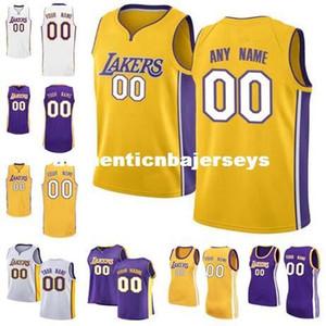 Cheap New Vest Custom Jersey Qualsiasi numero qualsiasi nome personalizzare Mens Giovanili Cucito personalizzato Pullover da basket in oro bianco viola