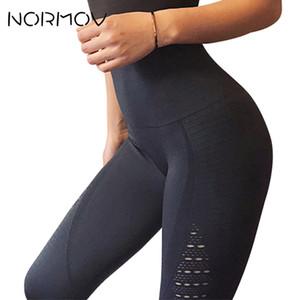 Normov Sem Costura de Cintura Alta Yoga Leggings Calças Justas Mulheres Treino de Malha Respirável Calças de Treinamento de Fitness Roupas Femininas 5 Cor C19041901