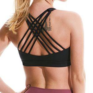 Reggiseno sportivo camicia di yoga palestra delle donne giubbotto LU flessioni di forma fisica parti superiori sexy biancheria delle signore cime antiurto reggiseno tracolla