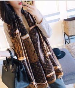 13 renk Klasik Bayan sarar Bahar ipek eşarp 2019 Sıcak kadın Harf şal eşarp moda uzun boyun halkası Noel hediyesi toptan 180x90cm