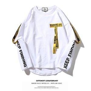 Mode Paar Pullover Männer und Frauen Hip Hop O-Ansatz Streamers Fälschung zwei lose koreanische Trend langärmelige dünne T-Shirts Asiatische Größe M-2XL