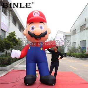 Горячие продажи гигантские надувные супер Марио надувной надувные мультипликационный персонаж Марио костюм для наружного дисплея