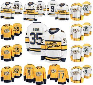 Зимняя классика Nashville Predators Hockey Джерси 59 Йоси Джерси 35 Пекка Rinne9 Форсберг Джохансен Уэйн Симмондс прошитой