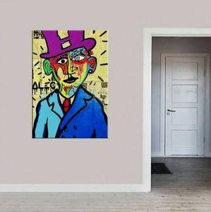 Alec Monopoly Banksy arte abstrata Salvador Dali -03 Home Decor pintado à mão HD cópia da pintura a óleo sobre tela Wall Art Canvas Pictures 200201