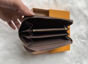 la mayoría de las tarjetas y monedas cremallera cartera de moda para hombre famosas carteras mujer monedero titular de la tarjeta monedero de cuero de la cartera