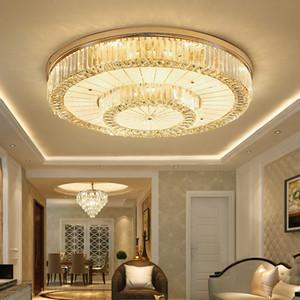 Nuovo design moderno lampadario di cristallo del soffitto rotondo luci lampadari di cristallo di lusso rettangolo lampada di illuminazione a led per il soggiorno camera da letto