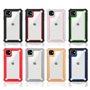 Pour LG 6 Pour Samsung Stylo Galaxy A01 A11 A21 TPU acrylique transparent Defender hybride Phone Case A