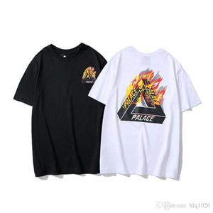 Marca Designer Mens T-shirt Tendência Da Moda Logotipo Do Triângulo Hip Hop Tshirt Clássico Carta Impressão Dos Homens Camisetas