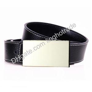 Belt classical men belts women belts ceinture big gold silver buckle Genuine Leather belt male lady strap drop shipping