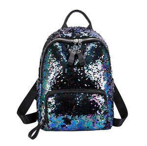 New Glitter Bag Cool Versatile Stylish Color Changing Glitter Double Shoulder Bag Casual Travel Backpack PH-CFY20062860