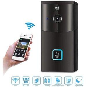 720P WIFi Bell-Intercom-System Lite OS Smart Video Klingel-Kamera Wireless Home Überwachungskamera mit App-Fernbedienung, 2-Wege Audio VB01