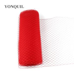 couleur rouge ou multiple 25cm Birdcage Veiling Chapellerie Chapeau Voile Accessoires cheveux bricolage faits de voiles de matériel fascinateur 10yard / lot
