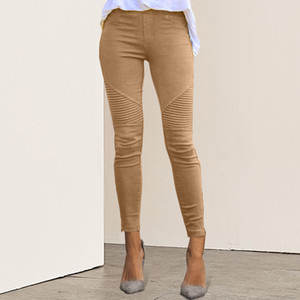 NIBESSER Frauen-Jeans Legging blauer gestreifter Druck Legging Frauen Imitation Jean Slim Fitness Elastic Nahtlose Jeans 2019