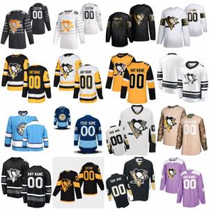 2020 All Star 58 Kris Letang 59 Jake Guentzel Personalizza Pittsburgh Penguins Hockey Jersey 71 Evgeni Malkin 87 Sidney Crosby 17 Bryan Rust