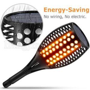 96 LED impermeável cintilação Chama LED Lâmpada Solar Torch Light Outdoor Garden Efeito Fogo Paisagem Noites exterior Gadget 30pcs OOA5192