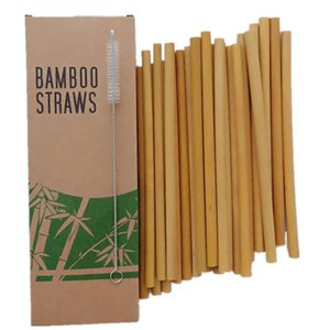 NATURAL NEO Organic Bamboo Straws Reusable Drinking Straw Biodegradable Kids Adults Natural Alternative to Plastic