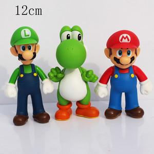 Vente en gros Hot 3 style de Luigi Bros Yoshi PVC Figures d'action pour l'anniversaire enfant ou cadeau Collection