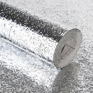 Kitchen Oil-proof Waterproof Stickers Aluminum Foil Kitchen Stove Cabinet Self Adhesive Wall Sticker DIY Wallpaper 40x100cm