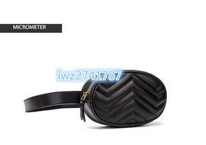 Chegada nova boa qualidade da cintura da mulher Pacote de couro real Saco de cintura de mulher com cinto ajustável 18cm x 11cm x 5 cm