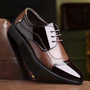 Appartamenti New Spring Fashion Oxford Business Men Shoes alta qualità Vera pelle morbida casuali respirabili degli uomini di Zip Shoes 2020