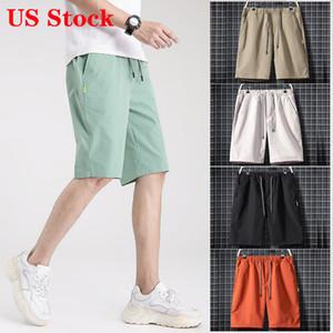 Stati Uniti Stock! 2020 Fear Of God Mens pantaloni di scarsità di modo di pantaloni da uomo casuale Essentials Estate Shorts alta qualità Shorts Casual
