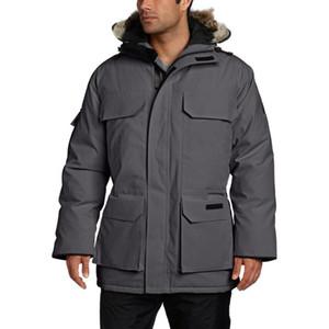 De lujo para hombre de la capa del invierno de Canadá diseñador de la chaqueta mujeres de los hombres de alta calidad de Invierno de Down Canadá del diseñador del Mens Parka Prendas de abrigo