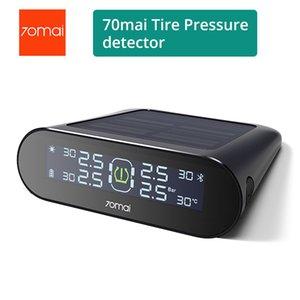 70mai TPMS Tire Тестер давления монитор солнечной энергии Dual USB зарядки 4 встроенных датчиков системы сигнализации с автомобиля Gauge Sens