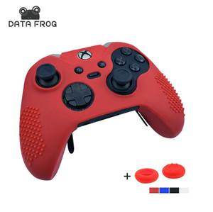 Grenouille de données Etui de protection Housse Wrap cas pour Xbox Elite One Controller Joystick Gel caoutchouc avec 2Pcs pouce Sticks