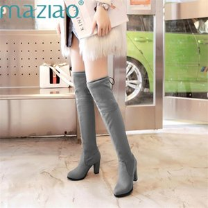 New Shoes Women Boots Sexy Comfortable Boots Over The Knee Female Autumn Winter Lady Thigh High